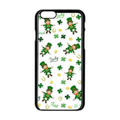 St Patricks Day Pattern Apple Iphone 6/6s Black Enamel Case