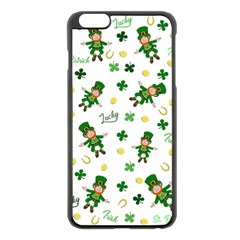 St Patricks Day Pattern Apple Iphone 6 Plus/6s Plus Black Enamel Case