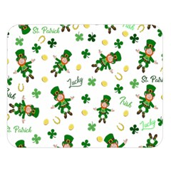 St Patricks Day Pattern Double Sided Flano Blanket (large)