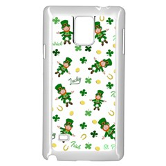 St Patricks Day Pattern Samsung Galaxy Note 4 Case (white)