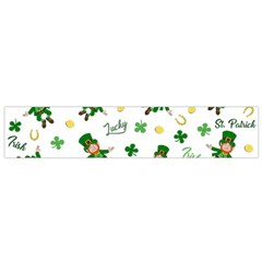 St Patricks Day Pattern Small Flano Scarf