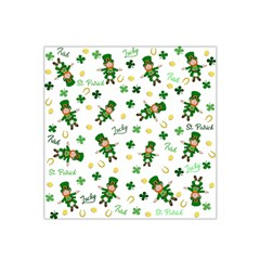 St Patricks Day Pattern Satin Bandana Scarf