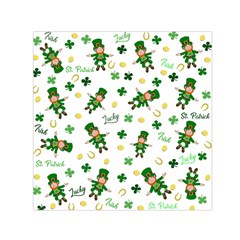 St Patricks Day Pattern Small Satin Scarf (square)