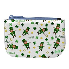 St Patricks Day Pattern Large Coin Purse