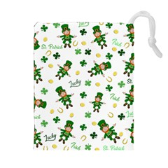 St Patricks Day Pattern Drawstring Pouches (extra Large)