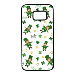 St Patricks Day Pattern Samsung Galaxy S7 Black Seamless Case