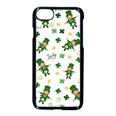 St Patricks Day Pattern Apple Iphone 8 Seamless Case (black)