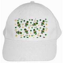 St Patricks Day Pattern White Cap