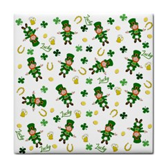 St Patricks Day Pattern Tile Coasters
