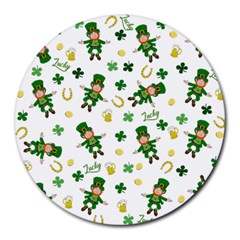 St Patricks Day Pattern Round Mousepads