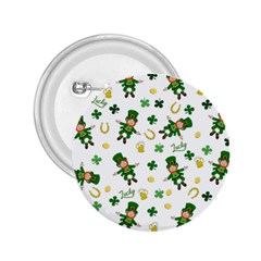 St Patricks Day Pattern 2 25  Buttons