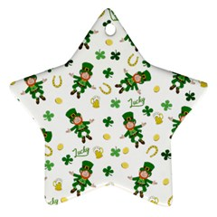 St Patricks Day Pattern Ornament (star)