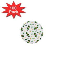 St Patricks Day Pattern 1  Mini Buttons (100 Pack)