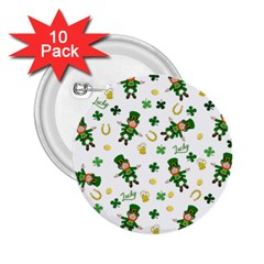 St Patricks Day Pattern 2 25  Buttons (10 Pack)