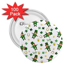 St Patricks Day Pattern 2 25  Buttons (100 Pack)