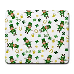 St Patricks Day Pattern Large Mousepads