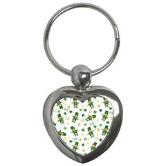 St Patricks Day Pattern Key Chains (heart)