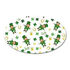 St Patricks Day Pattern Oval Magnet