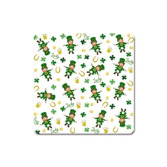 St Patricks Day Pattern Square Magnet
