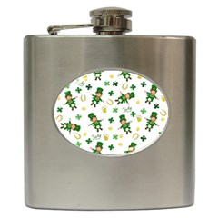 St Patricks Day Pattern Hip Flask (6 Oz)