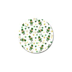 St Patricks Day Pattern Golf Ball Marker
