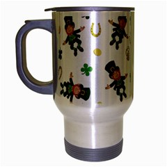 St Patricks Day Pattern Travel Mug (silver Gray)