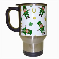 St Patricks Day Pattern Travel Mugs (white)