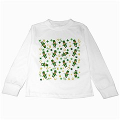 St Patricks Day Pattern Kids Long Sleeve T Shirts