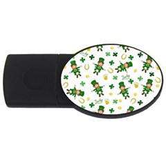 St Patricks Day Pattern Usb Flash Drive Oval (4 Gb)