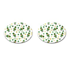 St Patricks Day Pattern Cufflinks (oval)