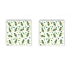St Patricks Day Pattern Cufflinks (square)