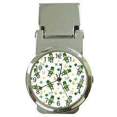 St Patricks Day Pattern Money Clip Watches