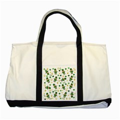 St Patricks Day Pattern Two Tone Tote Bag