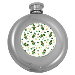 St Patricks Day Pattern Round Hip Flask (5 Oz)