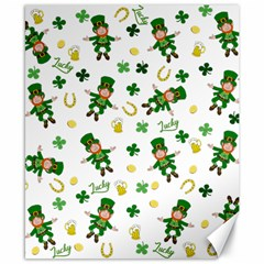 St Patricks Day Pattern Canvas 8  X 10