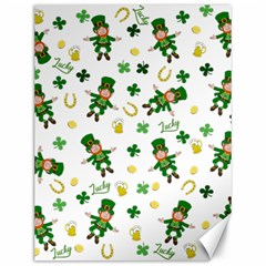 St Patricks Day Pattern Canvas 12  X 16