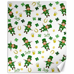 St Patricks Day Pattern Canvas 16  X 20