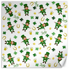 St Patricks Day Pattern Canvas 20  X 20