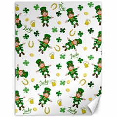 St Patricks Day Pattern Canvas 18  X 24