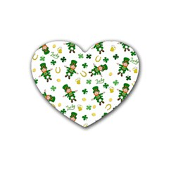 St Patricks Day Pattern Heart Coaster (4 Pack)