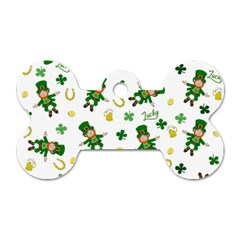 St Patricks Day Pattern Dog Tag Bone (one Side)