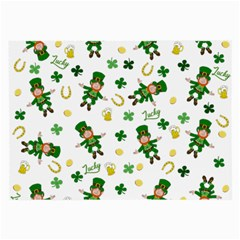 St Patricks Day Pattern Large Glasses Cloth