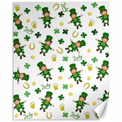 St Patricks Day Pattern Canvas 11  X 14