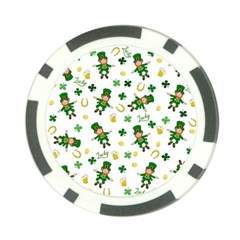 St Patricks Day Pattern Poker Chip Card Guard