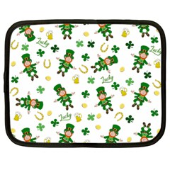 St Patricks Day Pattern Netbook Case (large)