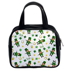 St Patricks Day Pattern Classic Handbags (2 Sides)