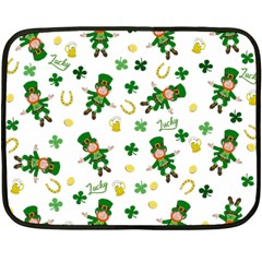 St Patricks Day Pattern Double Sided Fleece Blanket (mini)