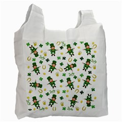 St Patricks Day Pattern Recycle Bag (two Side)
