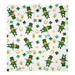 St Patricks Day Pattern Shower Curtain 66  X 72  (large)