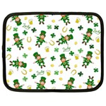 St Patricks day pattern Netbook Case (XL)  Front